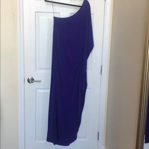 Trina Turk One Shoulder Purple Dress